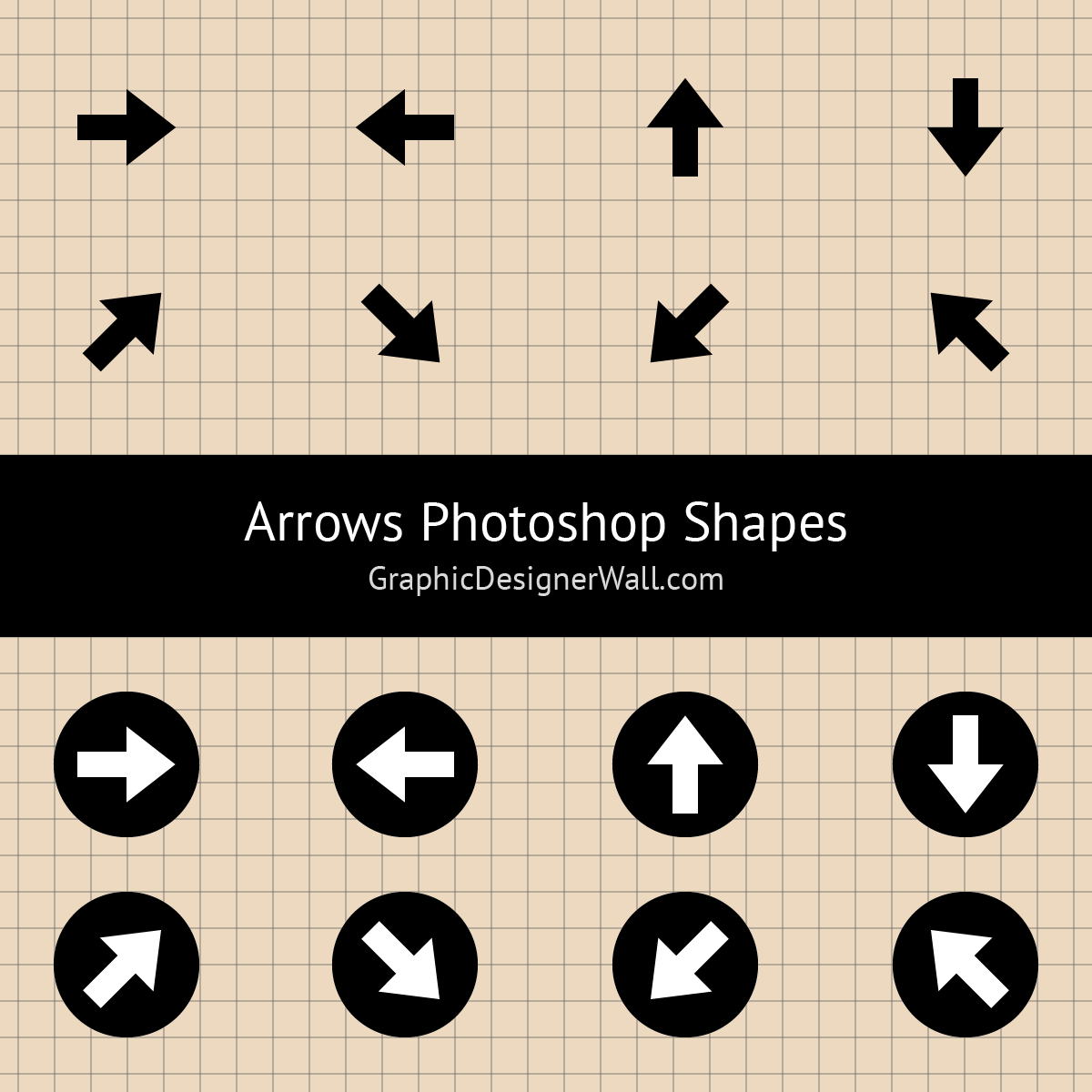 Simple Arrows Photoshop Shapes