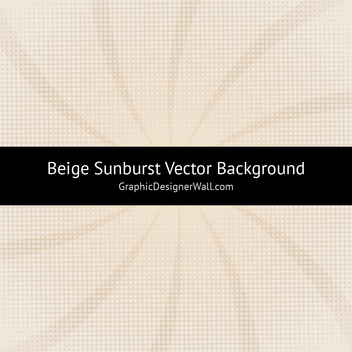 Beige Sunburst Vector Background