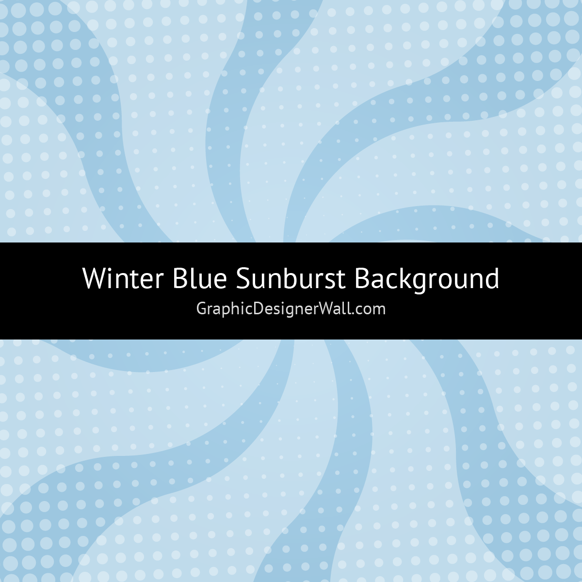 Winter Blue Sunburst Background