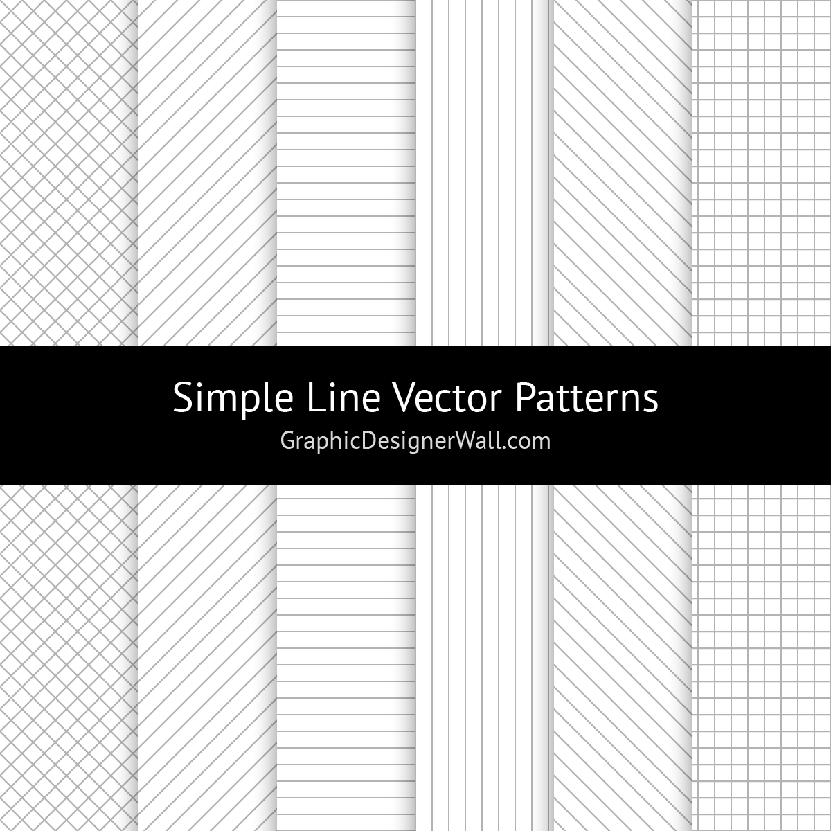 Simple Line Vector Patterns
